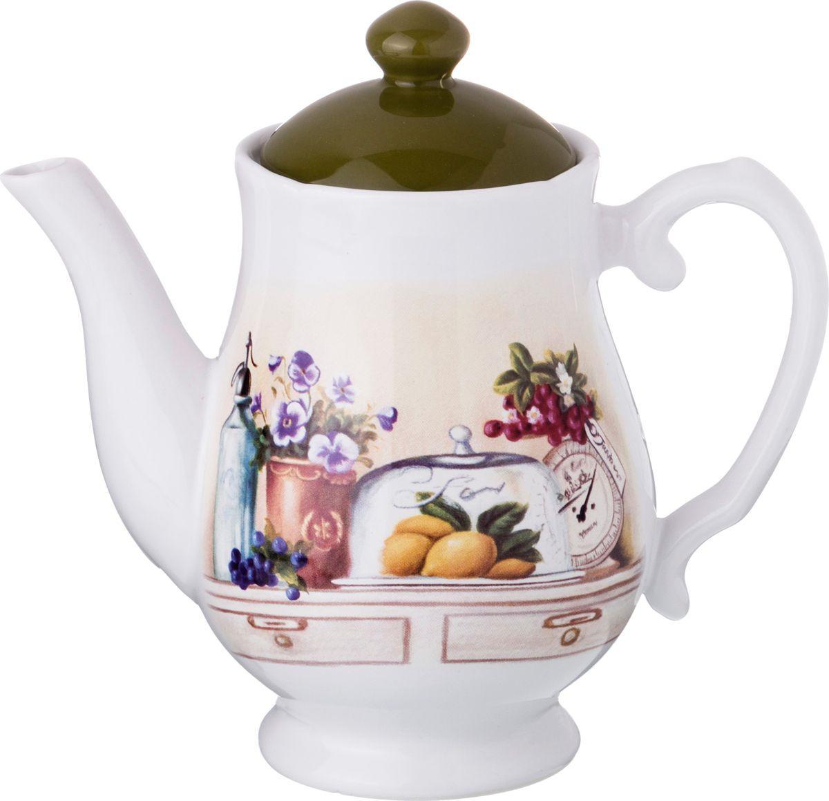 Чайник заварочный Agness В саду, 358-967-1, разноцветный, 1 л чайник яблоки 1 л
