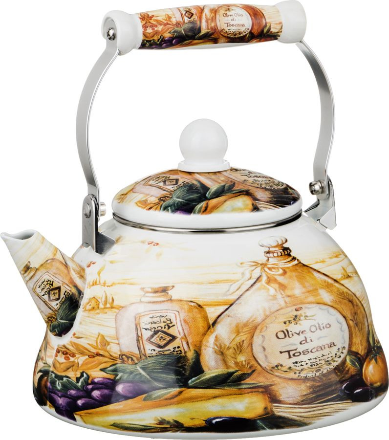 Чайник Agness, 934-350, мультиколор, 3 л чайник 1 3 л птицы santafe чайник 1 3 л птицы