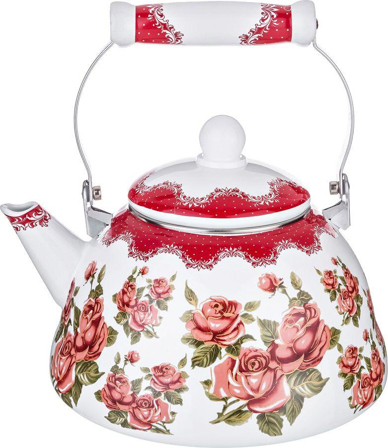Чайник Agness, 934-354, мультиколор, 3 л чайник 1 3 л птицы santafe чайник 1 3 л птицы