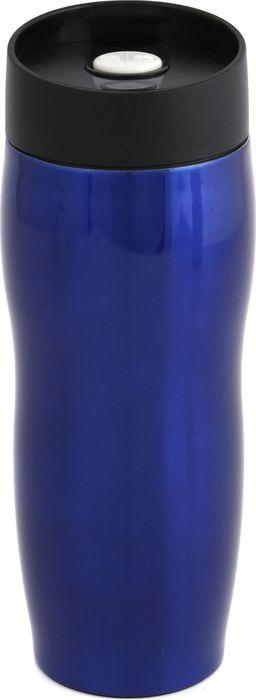 Термокружка Agness, с кнопкой-стопером, 709-022, синий, 400 мл