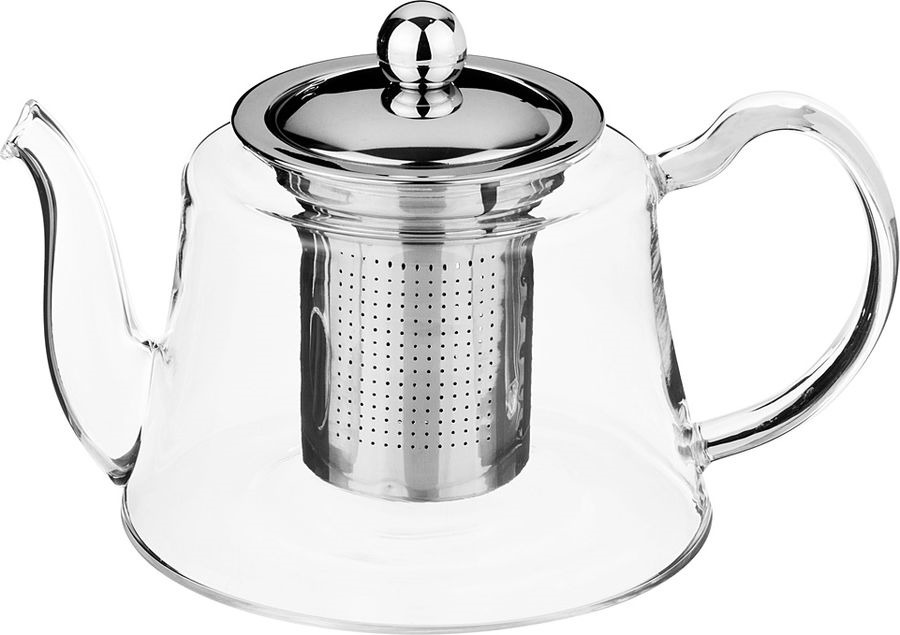 Чайник заварочный Agness, с фильтром, 884-041, прозрачный, 800 мл чайник заварочный vitesse с фильтром цвет прозрачный 800 мл vs 4010