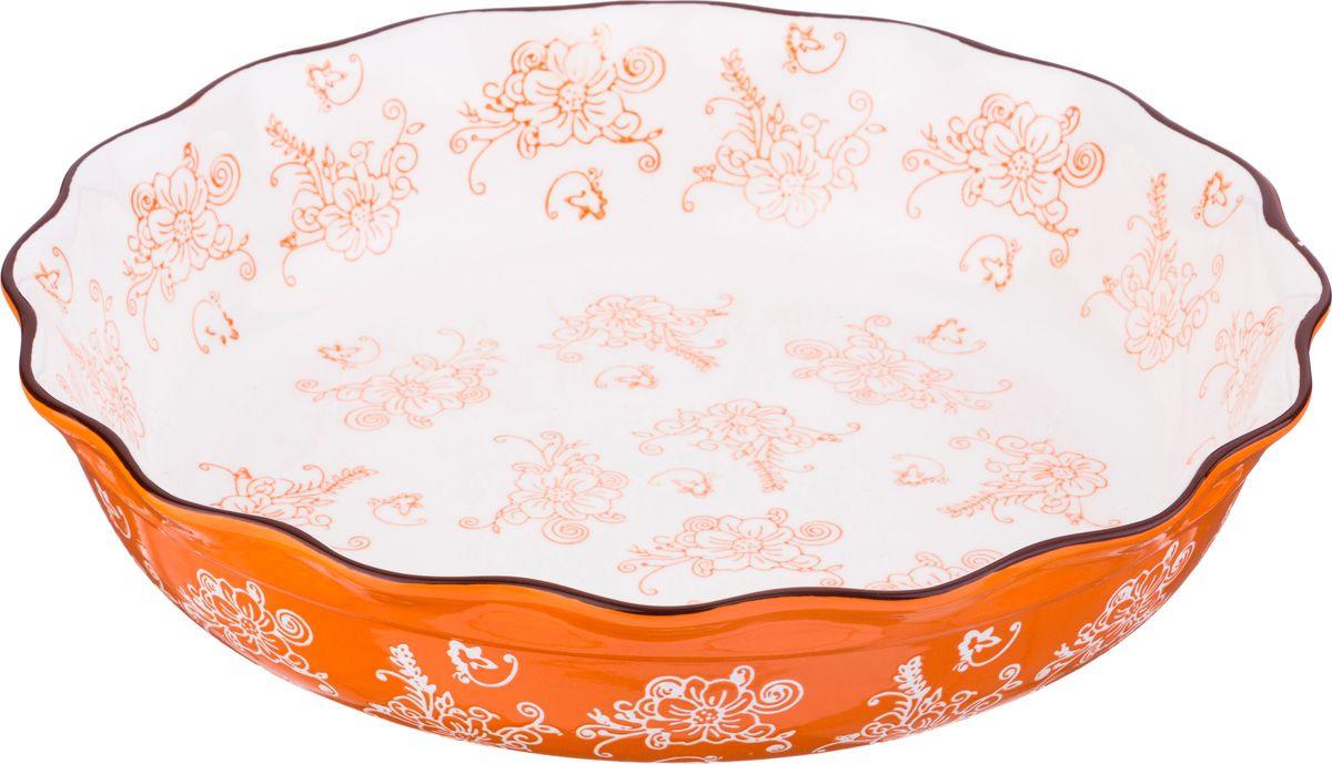 Блюдо для запекания Agness, 536-179, мультиколор, диаметр 30 см блюдо nuova r2s спагетти диаметр 30 см