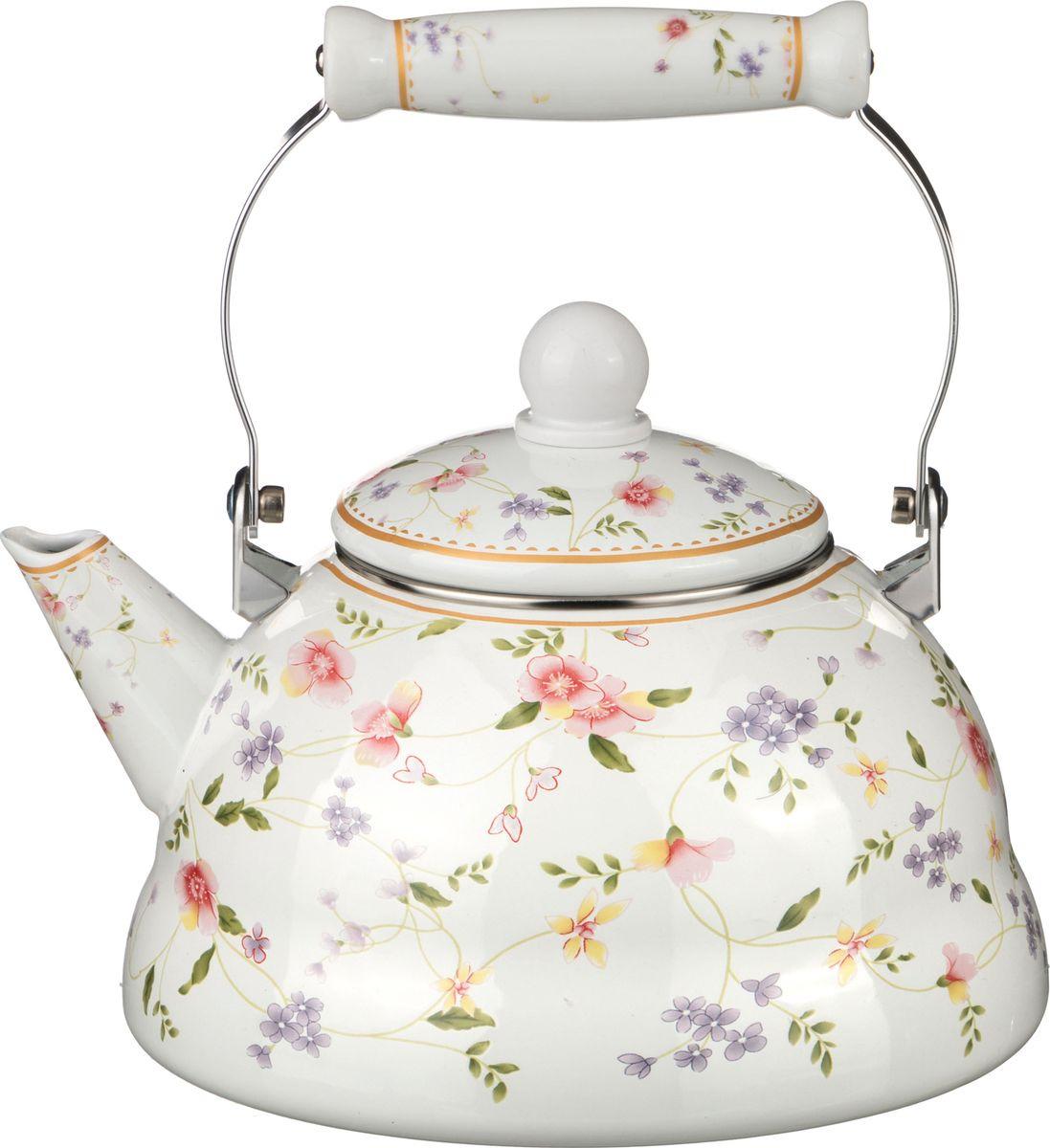 Чайник Agness, 934-327, мультиколор, 3 л чайник 1 3 л птицы santafe чайник 1 3 л птицы