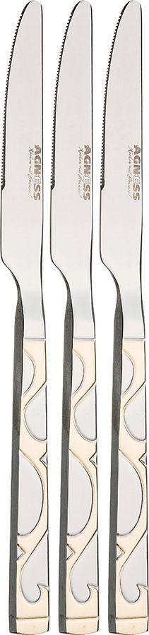 Набор ножей Agness, 922-230, серебристый, длина 23 см, 3 шт набор ножей actuel красный 3 шт 18х15х9 см