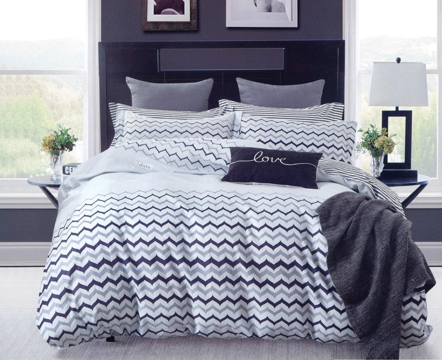Комплект постельного белья Дом Текстиля SULYAN Лайт, черный, светло-серый, серый, синий цена и фото