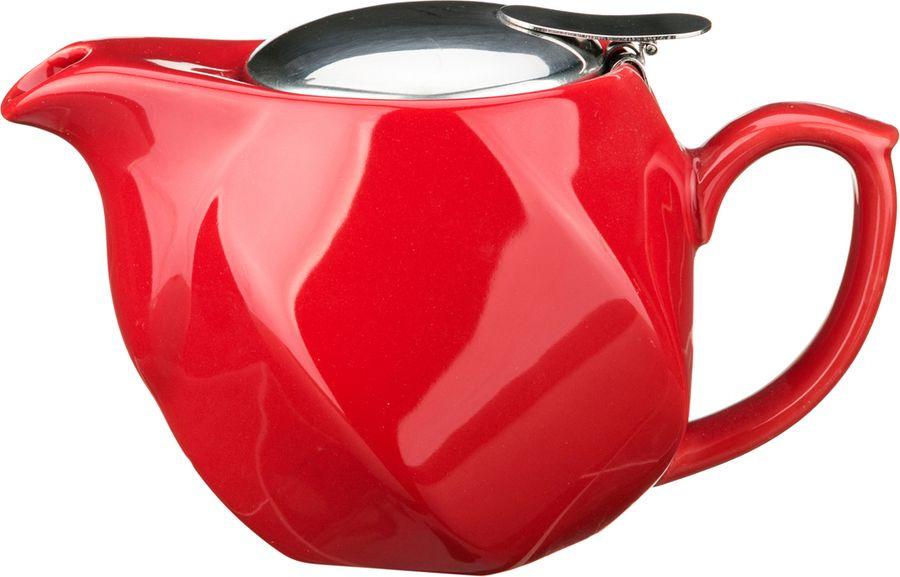 Чайник заварочный Agness, 470-180, красный, 500 мл чайник заварочный agness 470 015 оранжевый 600 мл