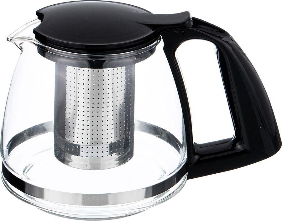 Чайник заварочный Agness, с фильтром, 884-039, черный, 750 мл agness кухонная утварь tarah 2500 мл