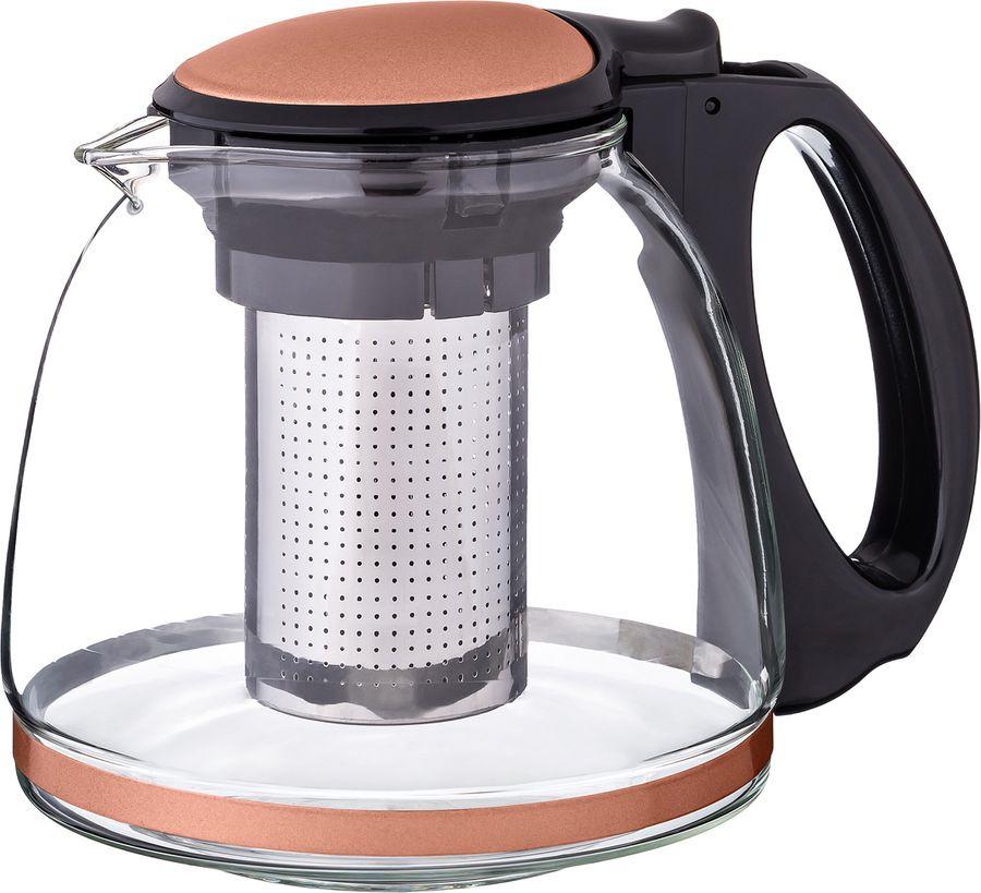 цена на Чайник заварочный Agness, с фильтром, 884-032, светло-коричневый, 1,1 л