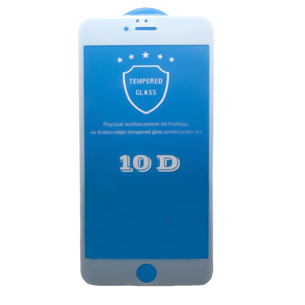 Защитное стекло ТЕХПАК для iPhone 6 Plus/6s Plus, белый