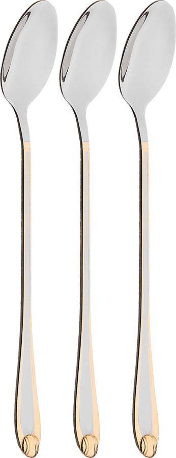 Набор ложек для коктелей Agness, 922-284, 3 шт набор форм для запекания home queen диаметр 18 5 см 3 шт