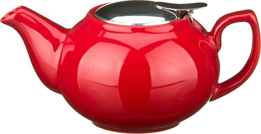 Чайник заварочный Agness, 470-011, красный, 600 мл чайник заварочный agness 470 015 оранжевый 600 мл