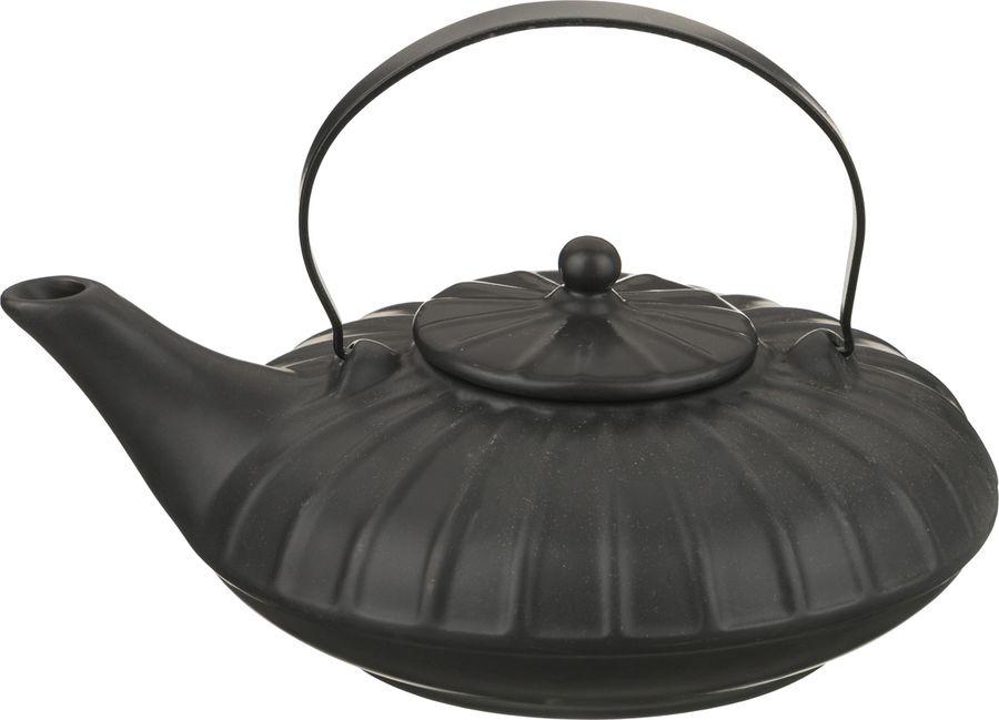 Чайник заварочный Agness, 444-103, черный, 1 л чайник заварочный lilac 5520010 1 прозрачный черный 1 5 л