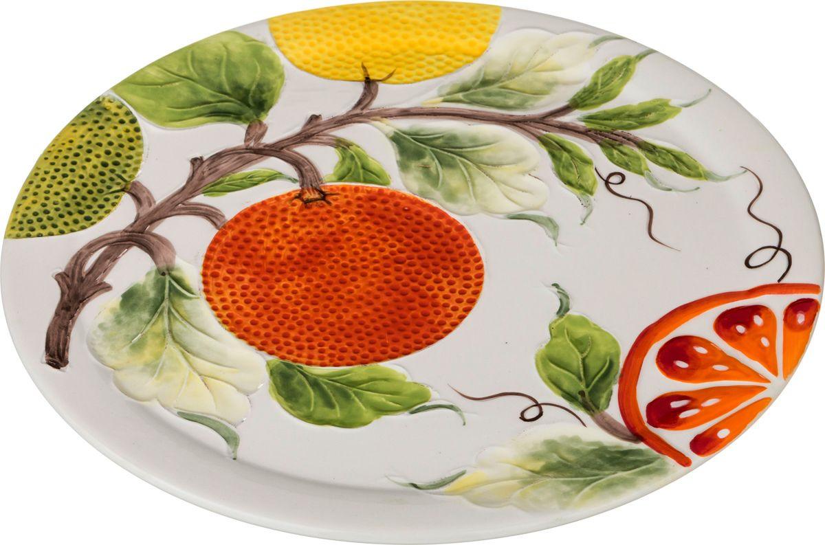 Блюдо Agness, 585-060, разноцветный, диаметр 30 см цена