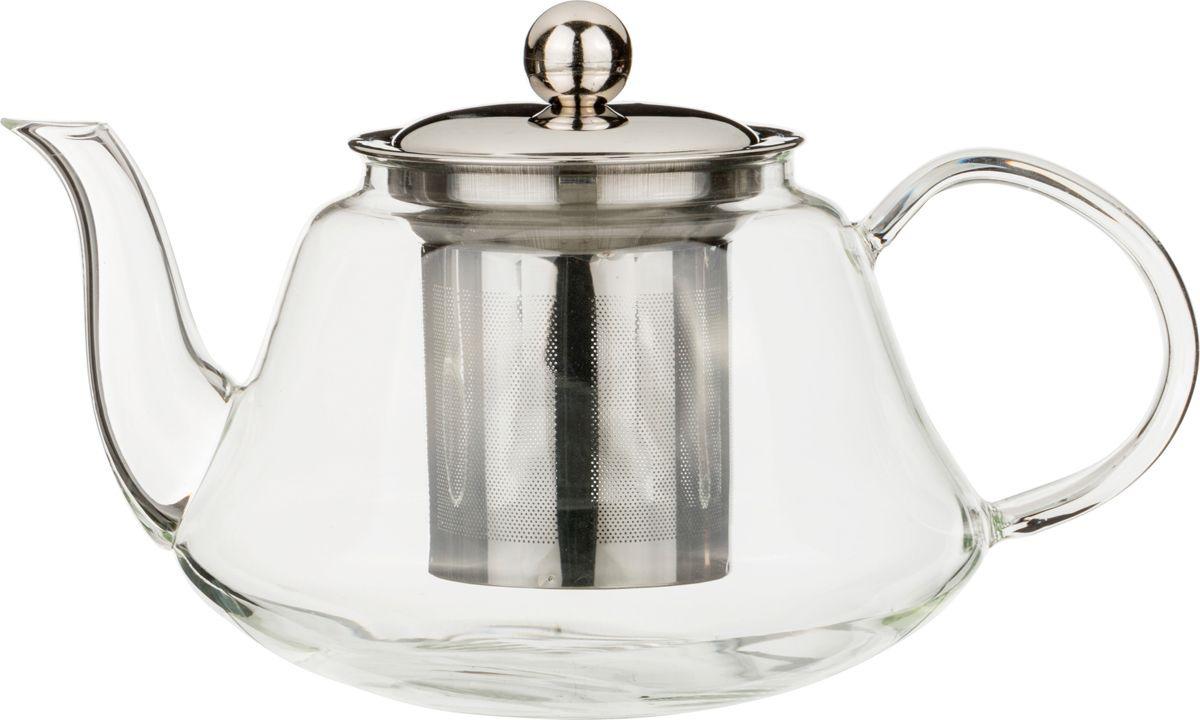 Чайник заварочный Agness, с фильтром, 891-022, прозрачный, 1 л чайник заварочный lilac 5520010 1 прозрачный черный 1 5 л