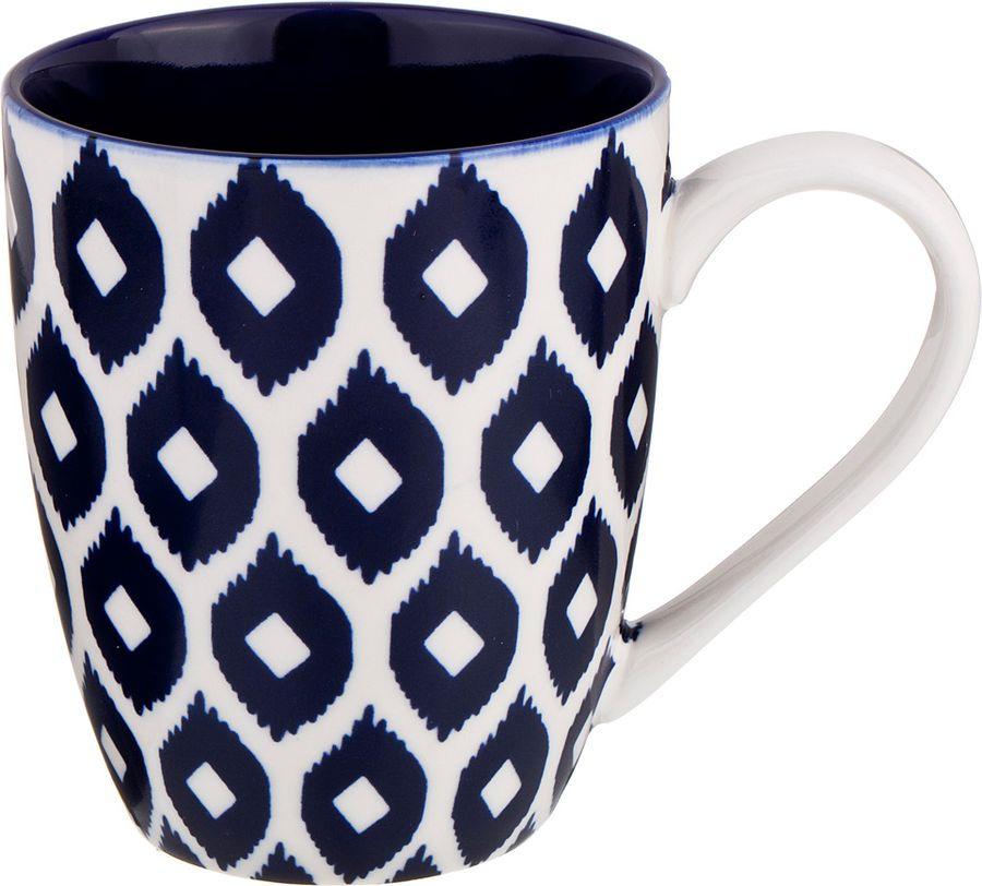 Кружка Agness, 585-112, белый, темно-синий, 400 мл цена и фото