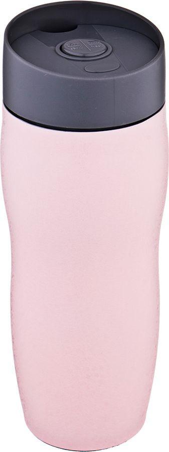 Термокружка Agness, с кнопкой-стопером, 709-070, розовый, 400 мл термокружка 400 мл zelda