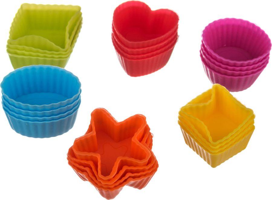 Набор форм для выпечки Agness, 710-165, мультиколор, 24 шт набор форм для выпечки metaltex 6 шт 25 91 24
