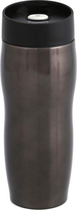 Термокружка Agness, с кнопкой-стопером, 709-017, черный, 400 мл термокружка 400 мл zelda