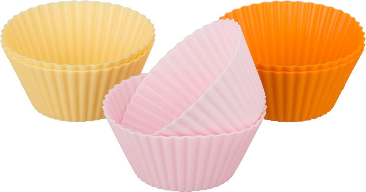 Набор форм для выпечки Agness, 710-270, мультиколор, диаметр 7 см, 6 шт набор форм для выпечки metaltex 6 шт 25 91 24