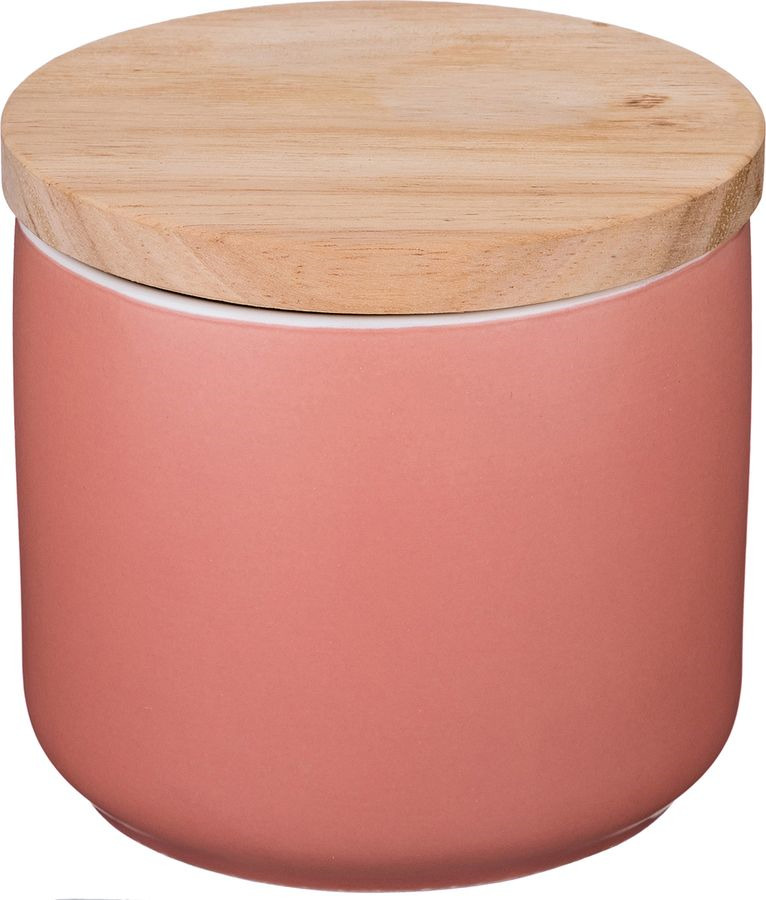 Банка для сыпучих продуктов Agness, 470-359, розовый, 500 мл банка 11х7 5х12 5 см 500 мл nouvelle банка 11х7 5х12 5 см 500 мл