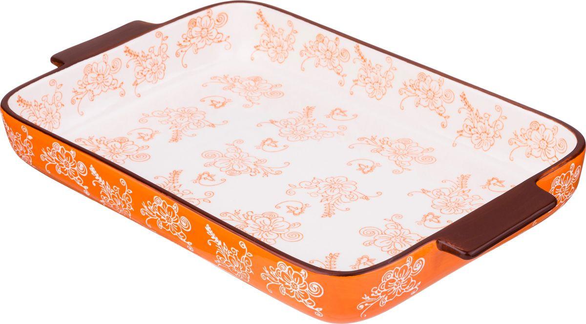Блюдо для запекания Agness, 536-194, мультиколор, 35 х 24 см блюдо для запекания rosenberg 37 5 23 см