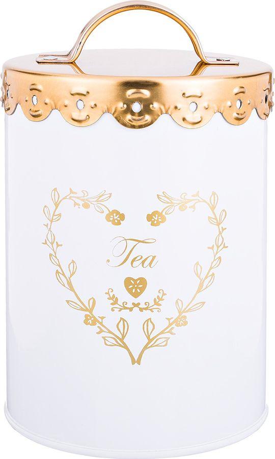 Универсальная емкость Agness Чай, 790-137, белый, 11 х 11 х 15,5 см