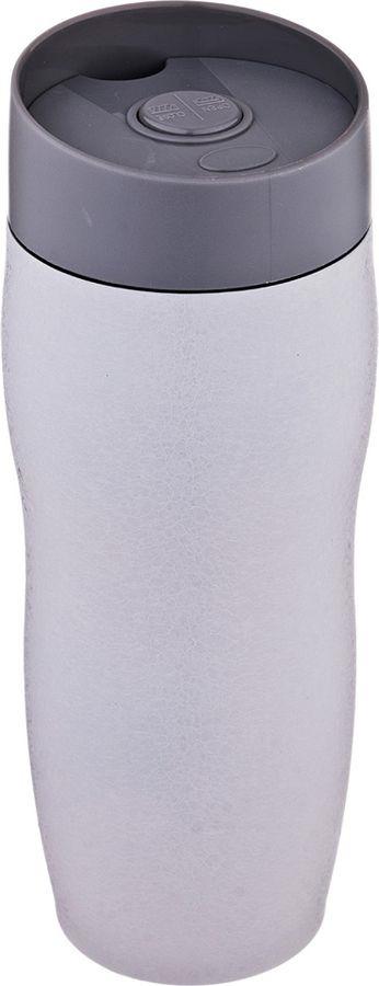 Термокружка Agness Монблан, с кнопкой-стопером, 709-072, серый, 400 мл термокружка 400 мл zelda