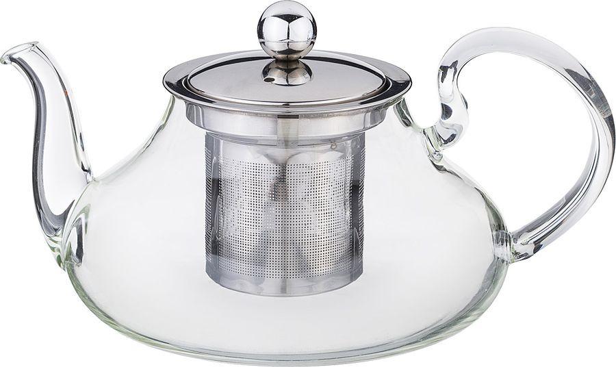 Чайник заварочный Agness, с фильтром, 891-024, прозрачный, 600 мл чайник заварочный vitesse с фильтром цвет прозрачный 800 мл vs 4010