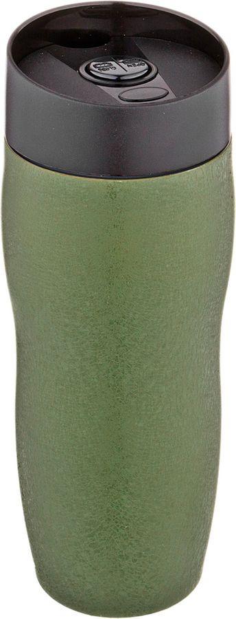 Термокружка Agness, с кнопкой-стопером, 709-071, зеленый, 400 мл