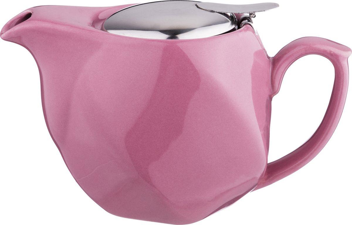 Чайник заварочный Agness, 470-352, сиреневый, 500 мл чайник заварочный agness 470 015 оранжевый 600 мл
