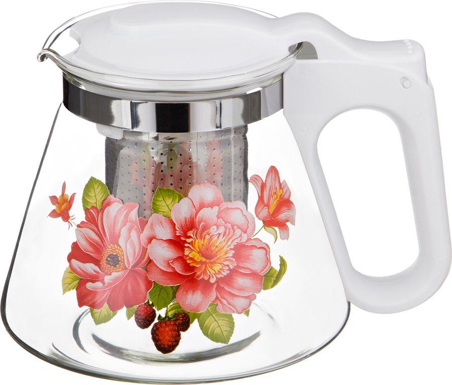 Чайник заварочный Agness, с фильтром, 885-051, разноцветный, 700 мл agness кухонная утварь tarah 2500 мл
