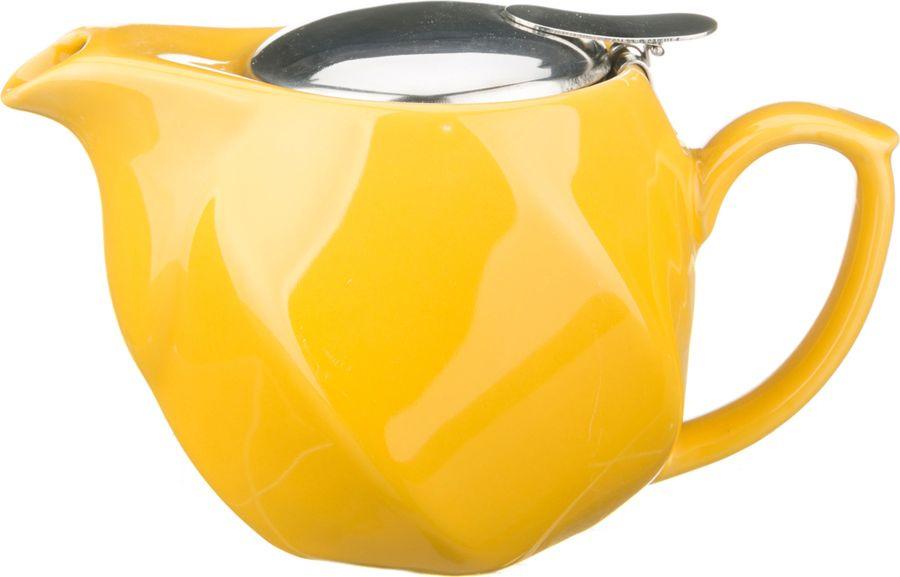 Чайник заварочный Agness, 470-181, желтый, 500 мл чайник заварочный agness 470 015 оранжевый 600 мл