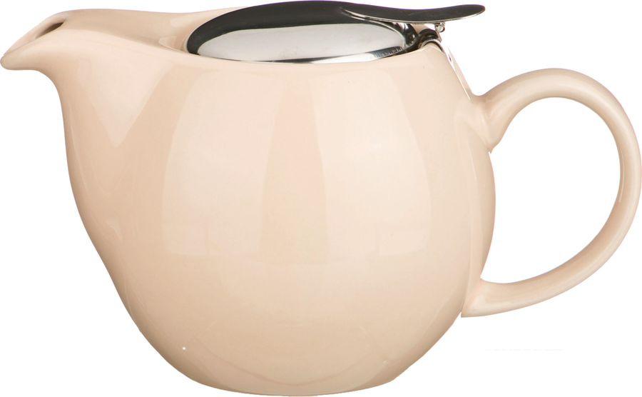 Чайник заварочный Agness, 470-003, бежевый, 500 мл чайник leben 291 003