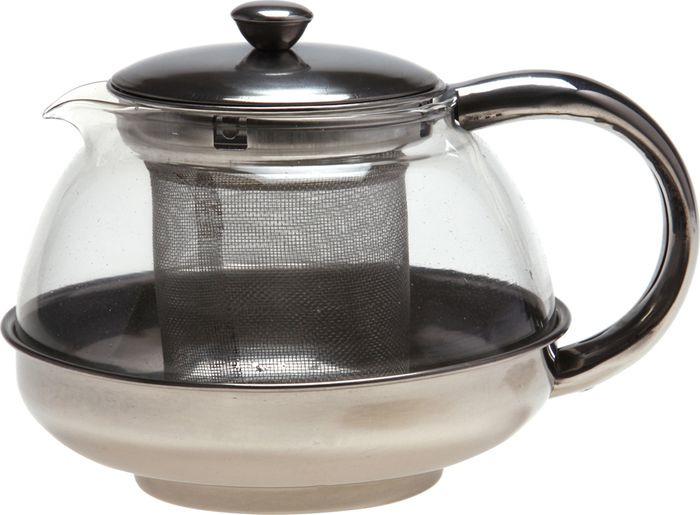 Чайник заварочный Agness, с фильтром, 891-001, прозрачный, 600 мл agness кухонная утварь tarah 2500 мл
