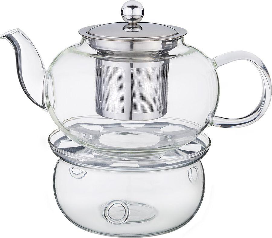 Чайник заварочный Agness, с фильтром, 891-026, прозрачный, 800 мл чайник заварочный vitesse с фильтром цвет прозрачный 800 мл vs 4010
