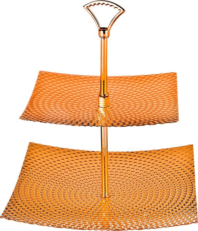 Фруктовница Agness, 928-114, оранжевый, высота 30 см фруктовница olaff cake stand 2 ярусная dl fsp2f 223
