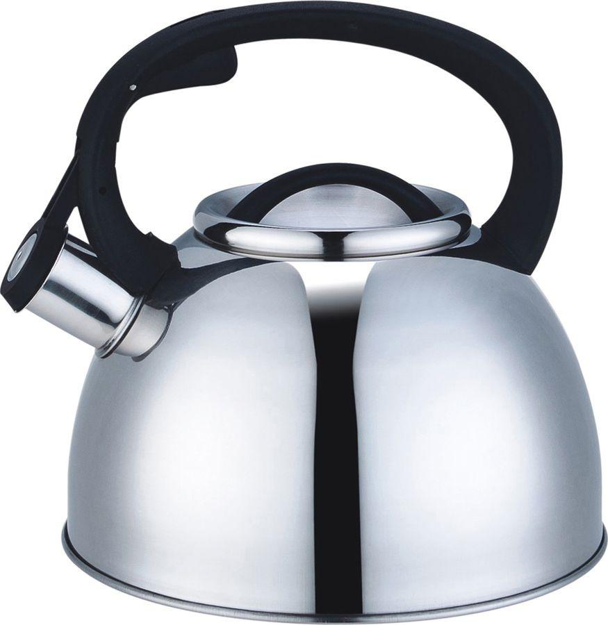 Чайник Agness, со свистком, 907-043, серебристый, 2,5 л