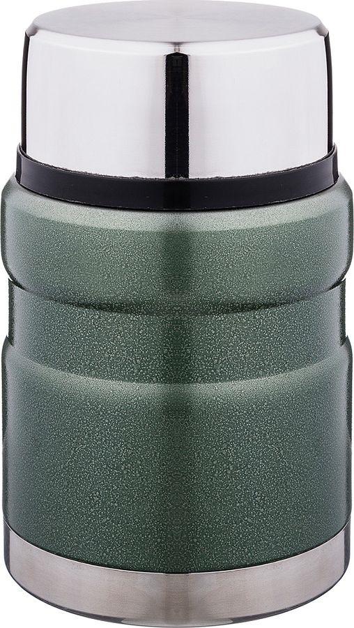 Термос Agness, с широким горлом, 910-088, темно-зеленый, 500 мл