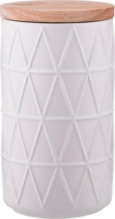 Банка для сыпучих продуктов Agness, 470-364, белый, 900 мл банка для сыпучих продуктов terracotta сардиния цвет белый терракотовый высота 13 см