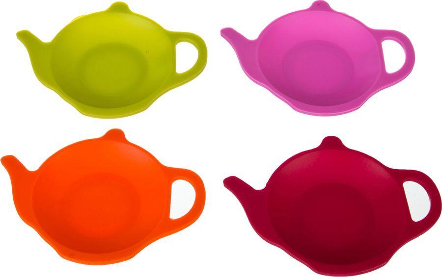 Подставка для чайных пакетиков Agness, 710-231, разноцветный, 4 шт patricia набор подставок для чайных пакетиков 4 шт im56 0212 мульт