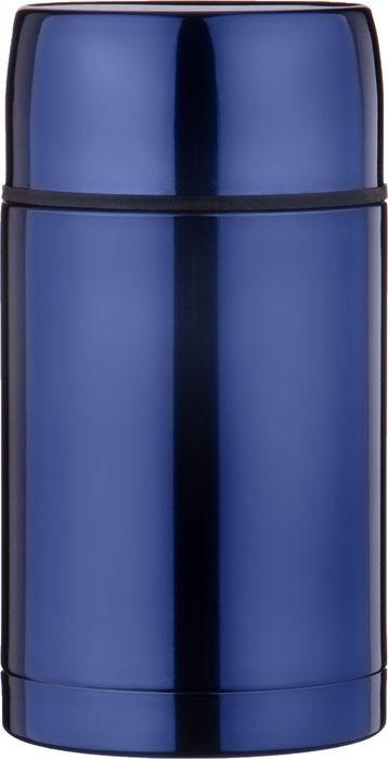 Термос Agness, с широким горлом, 910-070, синий, 1 л термос agness с широким горлом 910 035 серебристый 1 л