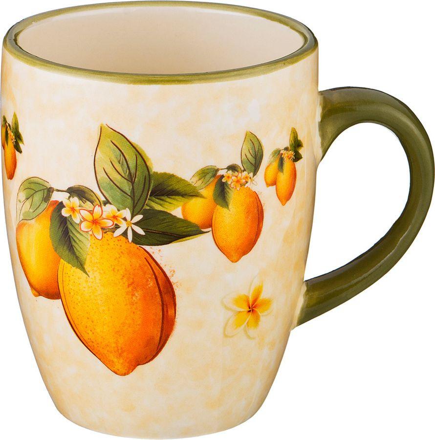 Кружка Agness Лимоны, 358-1359, разноцветный, 300 мл все цены
