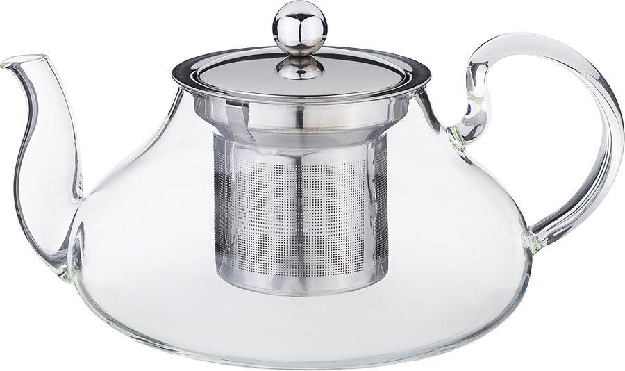 Чайник заварочный Agness, с фильтром, 891-023, прозрачный, 800 мл чайник заварочный vitesse с фильтром цвет прозрачный 800 мл vs 4010