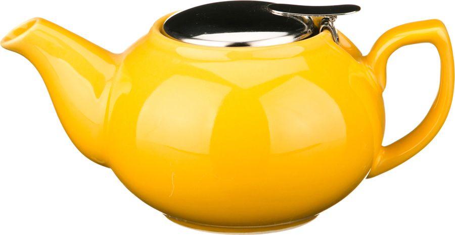 Чайник заварочный Agness, 470-012, желтый, 600 мл чайник заварочный agness 470 015 оранжевый 600 мл