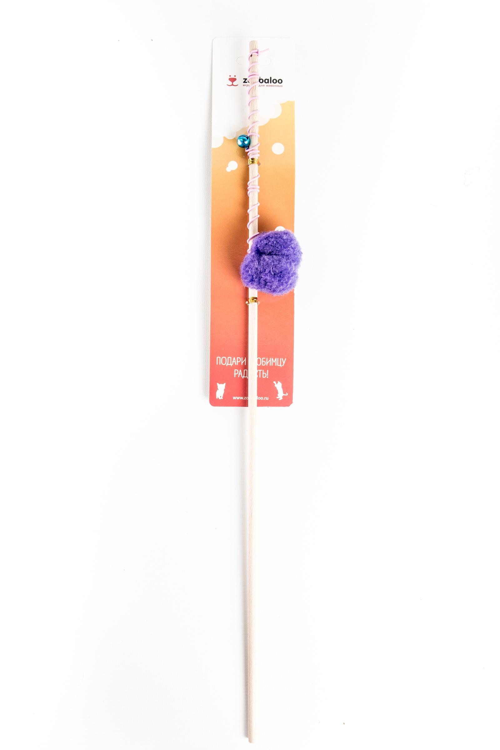 Бамбуковая дразнилка Плюшевый мячик на резинке
