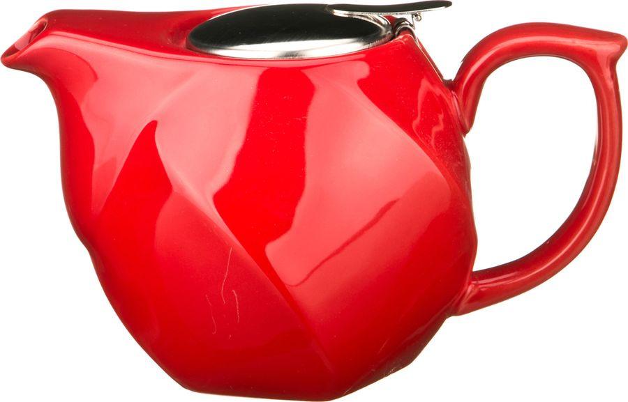 Чайник заварочный Agness, 470-186, красный, 750 мл чайник заварочный agness 470 015 оранжевый 600 мл