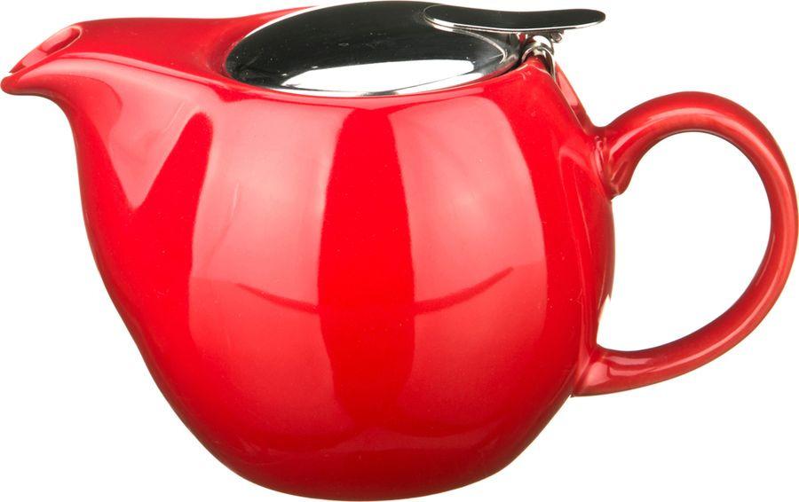 Чайник заварочный Agness, 470-001, красный, 500 мл цена