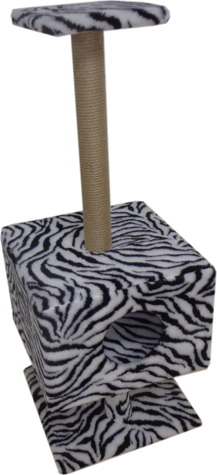 Домик для животных Меридиан Квадратный, Д 112 Зе, на подставке, зебра, 39 x 39 x 102 см домик когтеточка меридиан квадратный на подставке цвет леопардовый 39 х 39 х 102 см