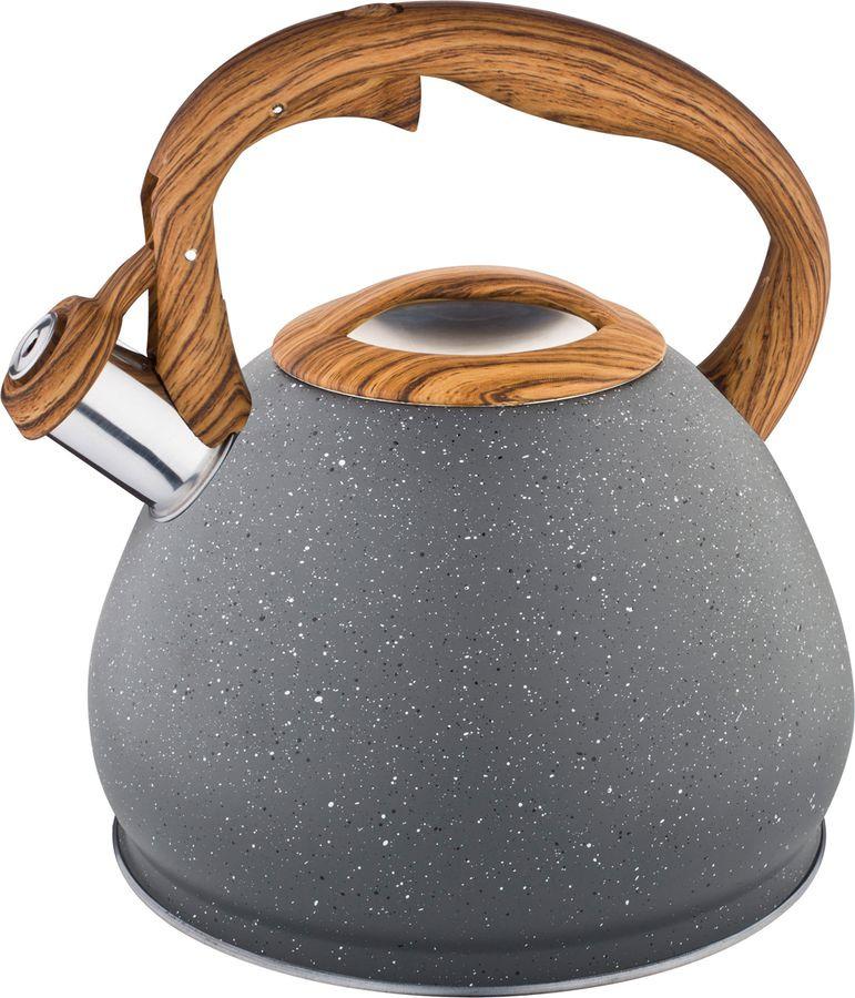цена на Чайник Agness Монблан, со свистком, 937-810, серый, 3 л