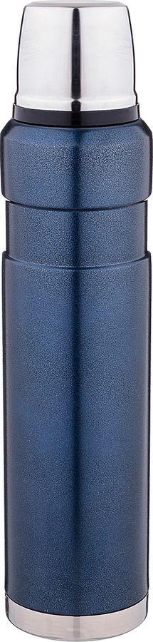 Термос Agness, с крышкой-чашкой, 910-084, темно-синий, 1 л
